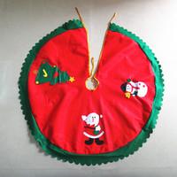Wave green trim three pattern RQAa209 90cm old man Christmas tree skirts, tree, snowman applique tree skirt