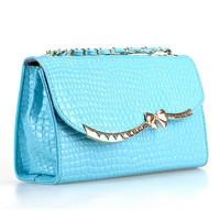 Hot Sale 2014 New Arrivals Fashion Crocodile Pattern Casual Shoulder Bag Messenger bag Women 5 color optional