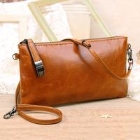 Bau lo 2014 female clutch bag day clutch genuine leather oil skin cross-body small clutch