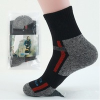 2014 Freeshipping 1pair Quick-drying wlfskin/Wolf, claw hiking socks COOLMAX socks outdoor sports men's socks fit for 39-44