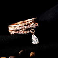 Korean Jewelry Wholesale Fashion Stereo-refined Version Of Wild-type Fashion Micro-inlay Premium Zircon Ring For Women