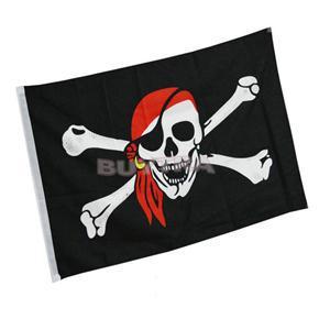 2015 New CL Designer Halloween Supplies Jolly Roger Skull Crossbones Pirate Flag 90x150 cm Garden Banner Flag LC(China (Mainland))