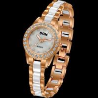 Dom watch women luxury brand diamond jewelry quartz watches women fashion casual retro relogio feminino dress wristwatch