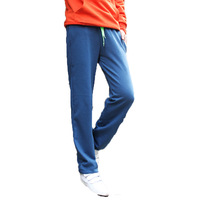 2014 New Men Fashion Cotton Men Free shipping Casual Sports Pants loose male trousers Loungewear and nightwear Blue/Grey /Orange