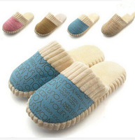 2014 New Autumn and Winter Warm Men&Women Cotton-padded Lovers at Home Slippers indoor shoes