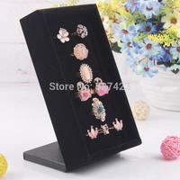 2014  Luxury Black Velvet exhibitor Earrings Rings Jewelry Display Stand Holder Organizer Showcase