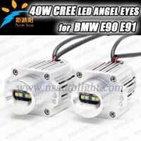 FACTORY NEWLY UPGRADE 40W WHITE CREE CAN-BUS LED ANGEL EYE HALO BULBS FOR 06-08 E90/E91 SEDAN SALOON led angel eyes