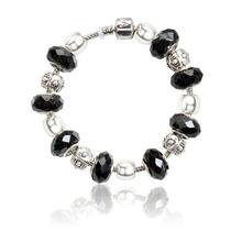 Fashion 12 style 925 plated glass beads bracelets Fits Pandora Style Bracelets best christmas gift wholesale jewelry PDL0017