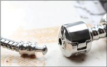 Fashion 12 style 925 plated glass beads bracelets Fits Pandora Style Bracelets best christmas gift wholesale