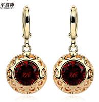 Gold-plated drop earrings female jewelry earrings gift women