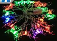 [Seven Neon]Free shipping 110V/220V christmas deer  shape 4M 20leds party/Christmas/decoration/holiday led string light