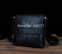 2014 New! Famous Brand Male Casual Shoulder Bag Male Genuine and PU Leather Shoulder Bag Cowhide Shoulder Messenger Bag MB133-2