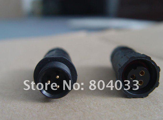 3 Pin Plug Connector Plug in 3 Pin Led Power