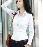 2014 New Korean Style Women Office Shirt Long-Sleeved V-collar Slim OL Temperament Explosion Models Casual Blouses Women NZ577
