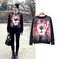Sudaderas Moletom Winter 2014 New Fashion Casual O-neck Long Sleeve Print Sweatshirt Woman Pullovers Brand Women Clothing SALE