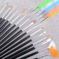 New Design Big Sale 20pcs Nail Art Brush Set Dotting Painting Drawing Polish Brush Pen Tools Black b4