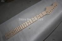 HOT Wholesale Top quality  Nitro Satin Nature color Canadian Maple St guitar necks ,22 fret,Left hand ST guitar neck