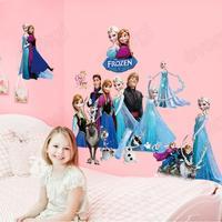 Movies Frozen Elsa Anna Olaf Baby Girls Xmas Art Wall Sticker Decals Room Decor