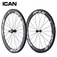 27 wider carbon wheels 56mm clincher road bike wheels UD-matt basalt surface powerway R13 hub Sapim spokes bike wheelset W56C