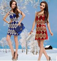 Free shipping!2014 autumn/winter new style slim fit Club ladies plus size dresses cocktail dress women's dress