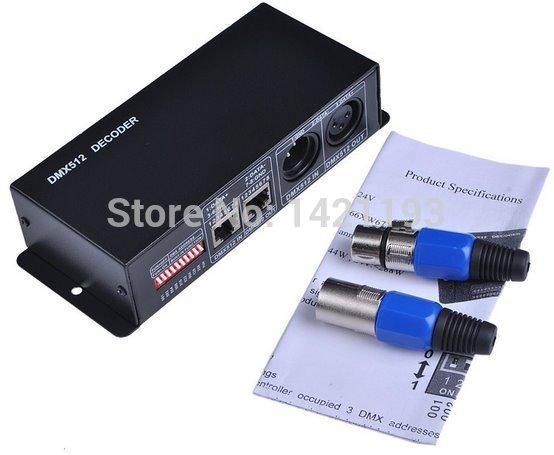 Lowest price Led DMX controller DC12V-24V,3channels, 3x8A DMX Decorder/Controller for RGB 5050 3528 LED Strip Light,led dimm