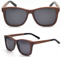 New design Walnut wood with acetate arms real wooden sunglasses men with Polarized lens retail and wholesale (WA58)