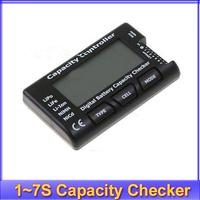 free shipping!! 2-7S Cellmeter Digital Battery Capacity Checker LiPo LiFe Li-ion NiMH Nicd Battery Capacity tester