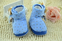 warm winter babyshoes ,children first walk shoes light blue color baby shoes free shipping