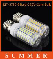 Lowest Price 1Pc/lot E27 SMD5730 220V led corn bulb E27 20W 69LED 5730 Warm white /white lamp 5730SMD led lighting free shipping