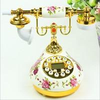 The British Royal noble antique telephone telephone European garden ceramics decoration technology