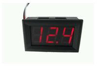 """5PCS Red LED display Color 0.56"""" Digital Voltmeter DC 3.2-30.0V 3bit 2 wires Vehicles car Motor Voltage Panel Meter"""