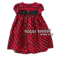 1pc Retail, New Arrival Girl's  Lovely Red Plaid Bows Dress, Girls Cute Beautiful Dress ,In Store,Freeshipping