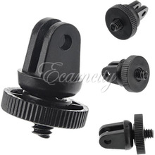 1pcs Mini Tripod Adapters with 1/4 screw Connecting Monopod Mount for Gopro HD Hero 3 2 1 Camera Parts Accessories