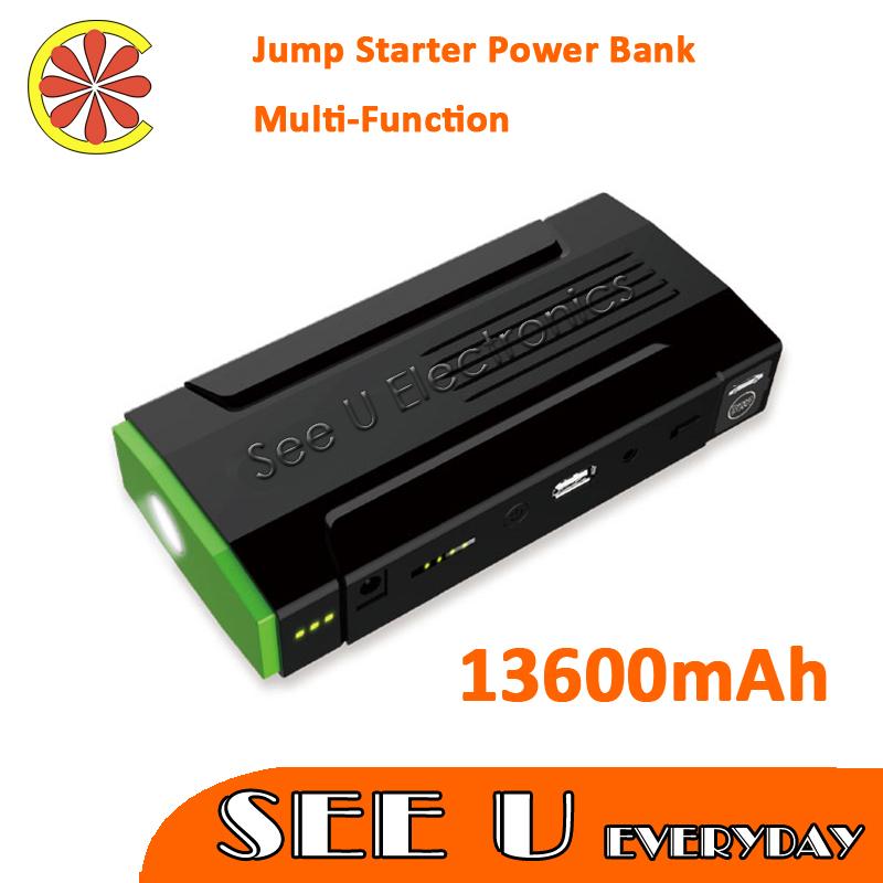 Top Seller D28 13600mAh Multi-Function Car Battery Jump Starter Mobile phone Power Bank Laptop External Rechargeable Battery(China (Mainland))