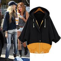 2014 European ladies ' new ladies hooded padded two fashion mosaic high coats