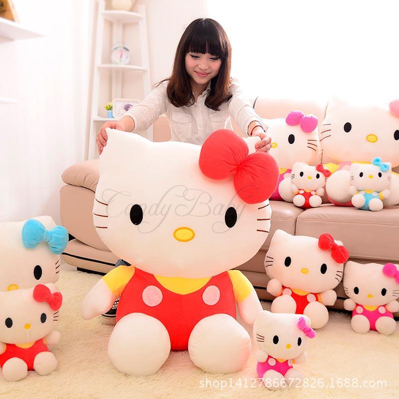 Top Quality 20cm Baby Children Plush Hello Kitty Doll Toys Brinquedos Soft Kids Christmas Classic Anime Dolls Bonecas C13-68(China (Mainland))