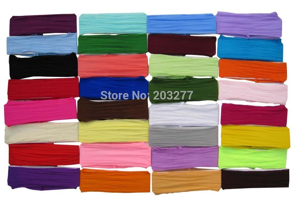 120PCS/lot nylon headband baby headbands infant hair bands 32color for your choice free shipping(China (Mainland))
