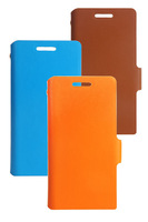 Doormoon For huawei ascend g6	 Flip Leather Case Real Cowhide Leather Cover And Retailed Package By Free Shipping