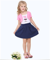 Free Shipping 2014 Peppa Pig Kids Dress Pepa Pig Casual Clothing For 2T 3T 4T 5T 6T Children Wholesale and Retail