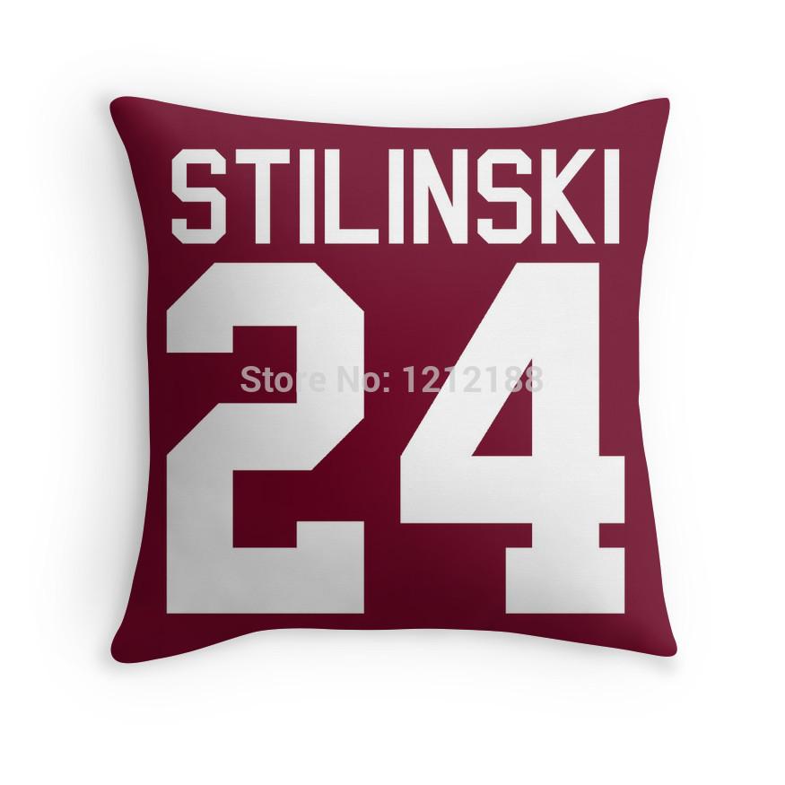 Free shipping Stiles Stilinski's Jersey - white text two sides printed 16x16 18x18 20x20 24x24 Inch cushion throw pillow case(China (Mainland))