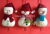 2014 news,Christmas tree small christmas fabric snowman small hanging handmade cloth products