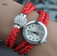 Fashionable Leather Shambala Watch Bracelet