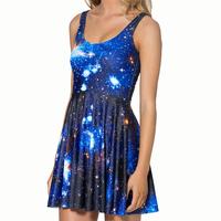 New Women Clothing European and American Vestidos O Neck Summer Sleeveless Casual  Femininas Dress WC0342