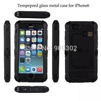 Redpepper Waterproof Shockproof  hexagonal Aluminum Gorilla Glass Gorilla Glass Luxury Metal Cover Case For iphone6 4.7 10pcs