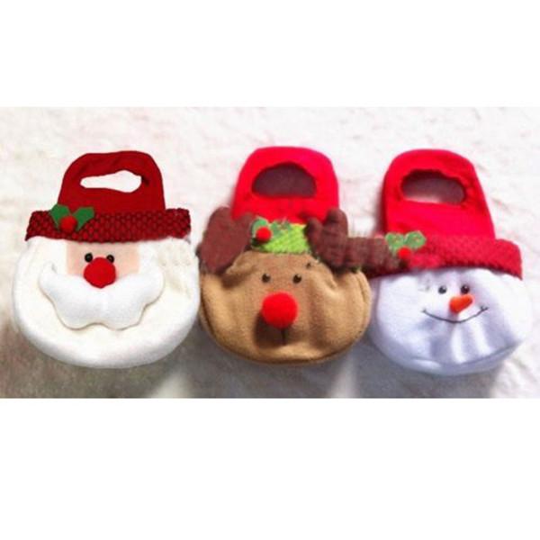 Adorable Christmas Candy Gift Bag Decor Reindeer Snowman Santa Claus Shape Gift(China (Mainland))