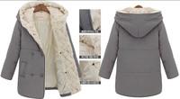 Winter Jacket Women Medium Long Slim Large Fur Collar Coat Thick Hooded Jackets Cotton Plus Size Outerwear Casual Parka XXL