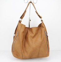 H024(brown)2014 New Fashionable Design Ladies PU/Synthetic Leather Tote Handbag,Free shipping!