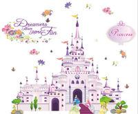 Huge Princess Castle Wall Sticker Decal Removable Kids Nursery Decor Art