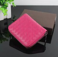 2014 New Fashion Big Brand Women Wallets Sheepskin Woven Leather Wallet Purse Women Leather Wallet  Women'S Purse H107