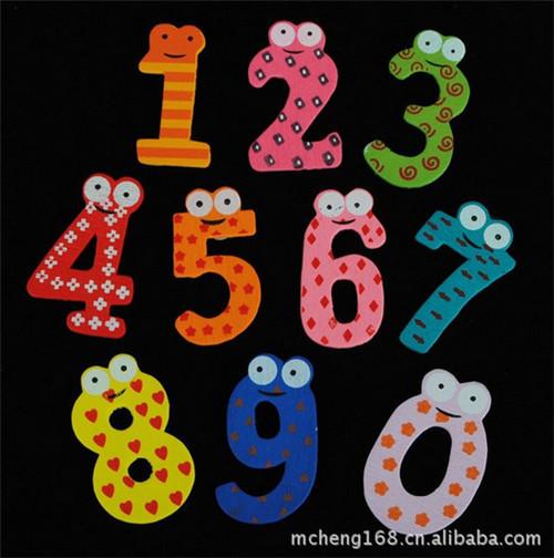 Free shipping 36 pcs 0 to 9 Number & A-Z Alphabet Fridge Magnets Plastic toys Child Education Toy(China (Mainland))
